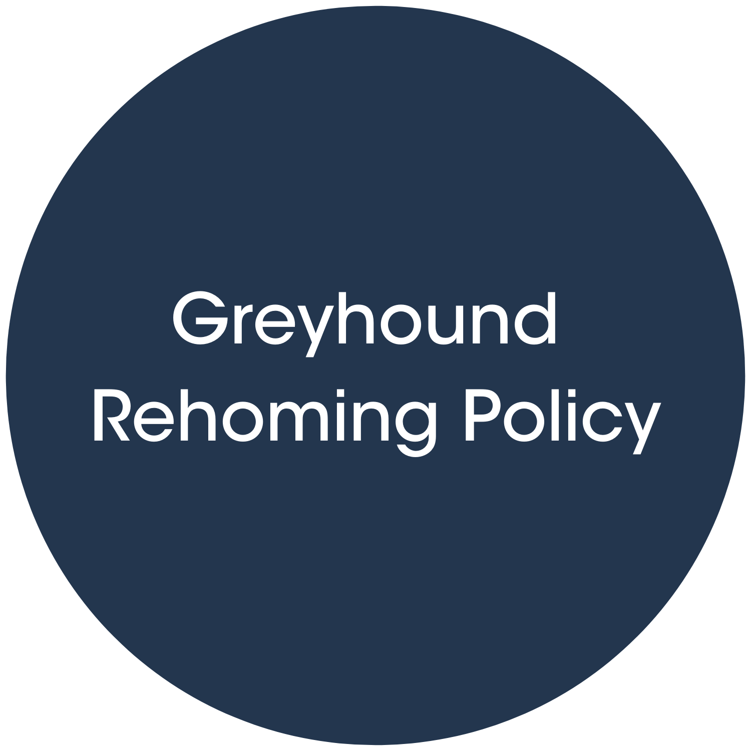 Greyhound Rehoming Policy link